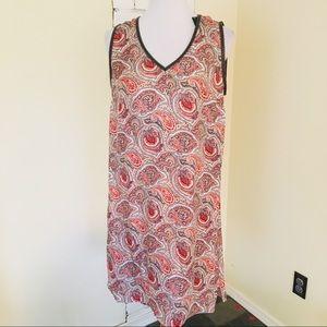 NWT Massimo Dutti Silk Paisley Sheath Dress US 10